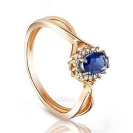 Кольцо с сапфирами и бриллиантами из розового золота VALTERA 96662