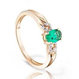 Кольцо с изумрудами и бриллиантами из розового золота VALTERA 95200