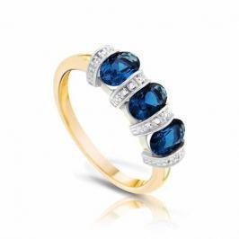 Кольцо с сапфирами и бриллиантами из розового золота VALTERA 93476