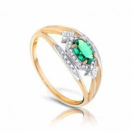 Кольцо с изумрудами и бриллиантами из розового золота VALTERA 93472