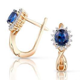 Серьги с сапфирами и бриллиантами из розового золота VALTERA 96654