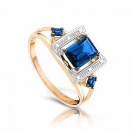 Кольцо с сапфирами и бриллиантами из розового золота VALTERA 94225