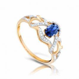 Кольцо с сапфирами и бриллиантами из розового золота VALTERA 92580