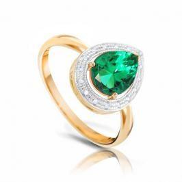 Кольцо с изумрудами и бриллиантами из розового золота VALTERA 94466