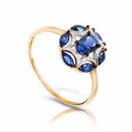 Кольцо с сапфирами и бриллиантами из розового золота VALTERA 94443