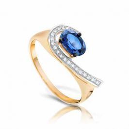 Кольцо с сапфирами и бриллиантами из розового золота VALTERA 94408