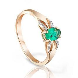 Кольцо с изумрудами и бриллиантами из розового золота VALTERA 95199