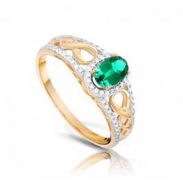Кольцо с изумрудами и бриллиантами из желтого золота VALTERA 92593