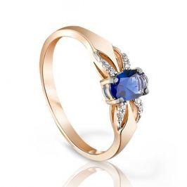 Кольцо с сапфирами и бриллиантами из розового золота VALTERA 95205