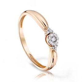 Кольцо с бриллиантами из розового золота VALTERA 97150
