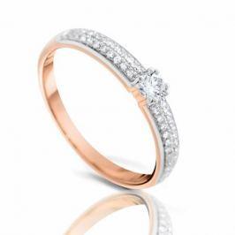 Кольцо с бриллиантами из розового золота 102133