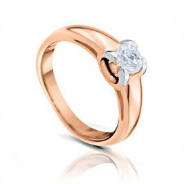 Кольцо с бриллиантами из розового золота 102854