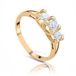 Кольцо с бриллиантами из желтого золота 102847
