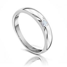 Кольцо с бриллиантами из белого золота 102843