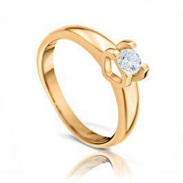 Кольцо с бриллиантами из желтого золота 102853