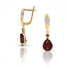 Серьги с рубинами и бриллиантами из розового золота VALTERA 102841
