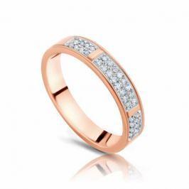 Кольцо с бриллиантами из розового золота 101019