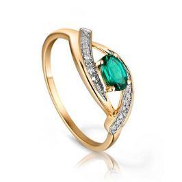 Кольцо с изумрудами и бриллиантами из розового золота 92858