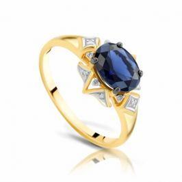 Кольцо с сапфирами и бриллиантами из розового золота VALTERA 93737