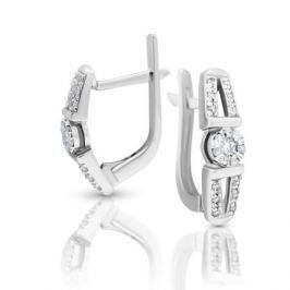 Серьги с бриллиантами из белого золота VALTERA 99476