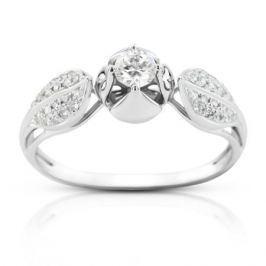 Кольцо с бриллиантами из белого золота 97533