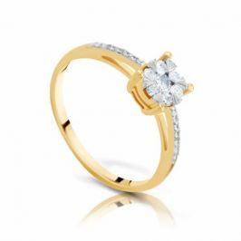 Кольцо с бриллиантами из желтого золота 97541