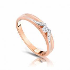 Кольцо с бриллиантами из розового золота VALTERA 103832