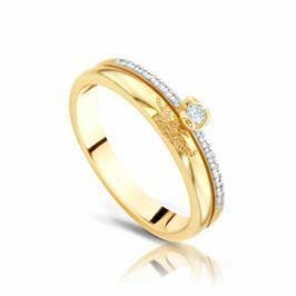 Кольцо с бриллиантами из розового золота 94063