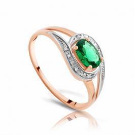 Кольцо с изумрудами и бриллиантами из розового золота VALTERA 90796