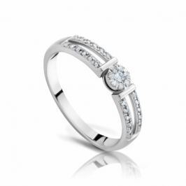 Кольцо с бриллиантами из белого золота VALTERA 97516