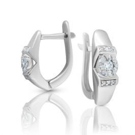 Серьги с бриллиантами из белого золота VALTERA 99474