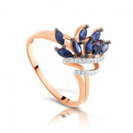 Кольцо с сапфирами и бриллиантами из розового золота VALTERA 97148