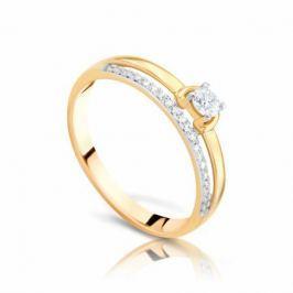 Кольцо с бриллиантами из розового золота 97553