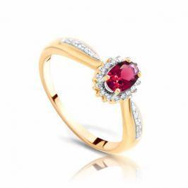 Кольцо с рубинами и бриллиантами из розового золота VALTERA 97134
