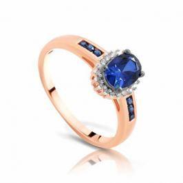 Кольцо с сапфирами и бриллиантами из розового золота VALTERA 97147