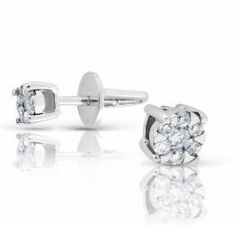 Серьги с бриллиантами из белого золота 101020