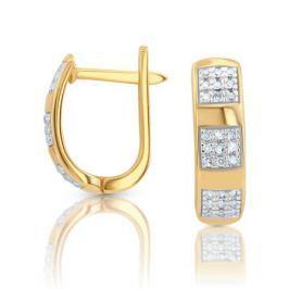 Серьги с бриллиантами из розового золота VALTERA 103310