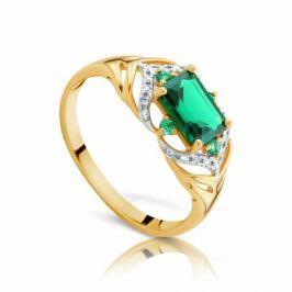 Кольцо с изумрудами и бриллиантами из розового золота VALTERA 92044