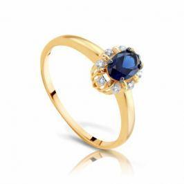 Кольцо с сапфирами и бриллиантами из розового золота VALTERA 102840