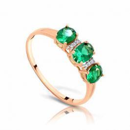 Кольцо с изумрудами и бриллиантами из розового золота VALTERA 90797