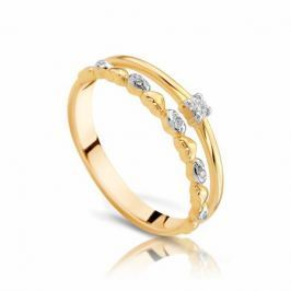 Кольцо с бриллиантами из розового золота VALTERA 97513