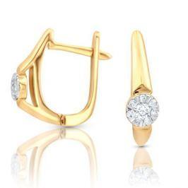 Серьги с бриллиантами из розового золота VALTERA 97510