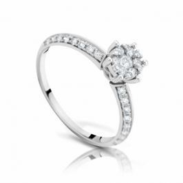 Кольцо с бриллиантами из белого золота 97535