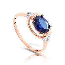 Кольцо с сапфирами и бриллиантами из розового золота 103836