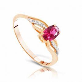 Кольцо с рубинами и бриллиантами из розового золота VALTERA 96661