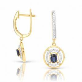 Серьги с сапфирами и бриллиантами из розового золота 94061