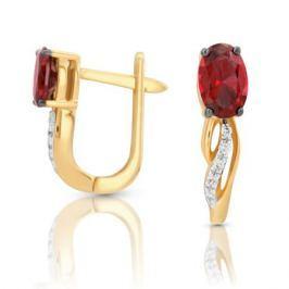 Серьги с рубинами и бриллиантами из розового золота VALTERA 97333