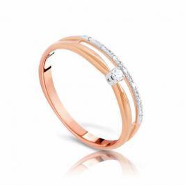 Кольцо с бриллиантами из розового золота VALTERA 99478