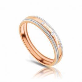Кольцо с бриллиантами из розового золота VALTERA 103747
