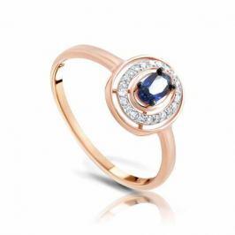 Кольцо с сапфирами и бриллиантами из розового золота 103838